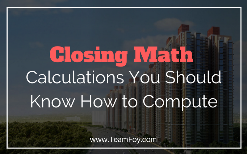 closing math real estate commission